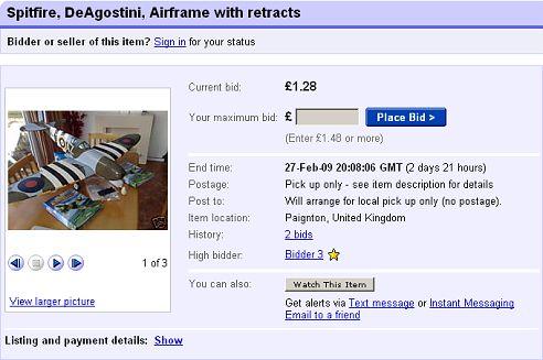 Spitfire eBay