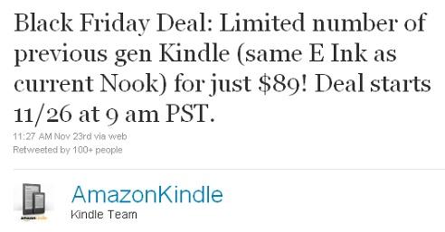Kindle Black Friday