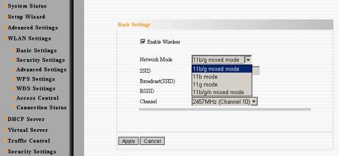 Tenda W311R+ WiFi Settings