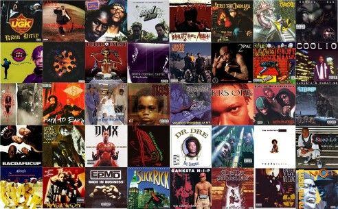 Koláž hip-hip obalů z devadesátých let