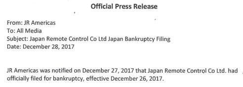 JR Bankruptcy